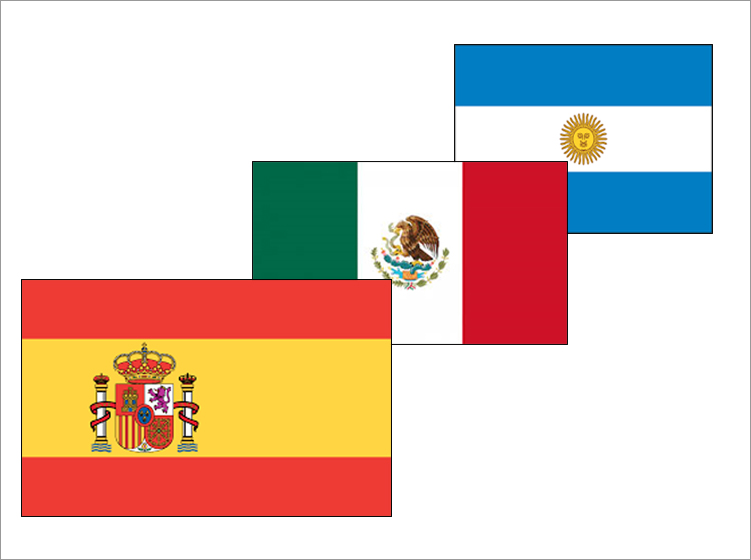 Spanish translation country flags